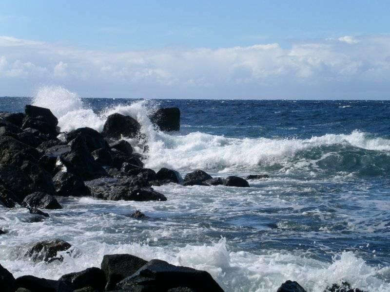 wilde zee tegen rots