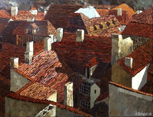 daken in Praag