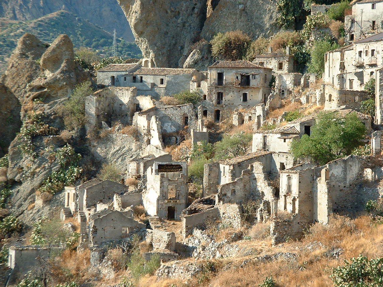 verlaten dorpje